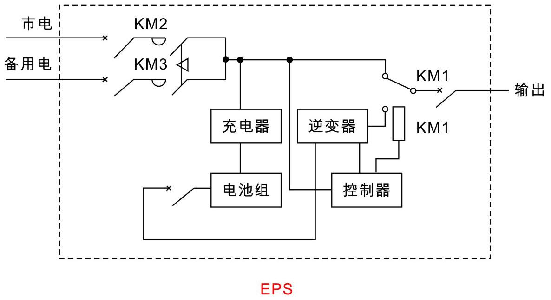 应急照明4芯线电路图